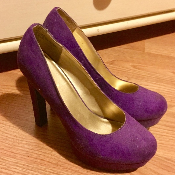 50% off Mossimo Supply Co Shoes - Purple suede platform heels from ...